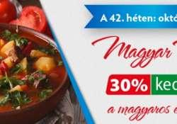 E-food: október 22-ig 30% kedvezmény a magyaros ételek árából!