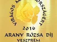 Arany Rózsa díj Veszprémnek