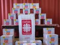 Veszprémben is örülnek a családok – Az egyházmegyei karitászközpontban átadták a dm pelenkaadományát
