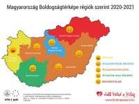 Így néz ki Magyarország Boldogságtérképe 2021-ben